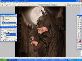 Particle9 Bat and cat WIP by beretta92