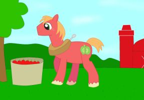 Big Macintosh and the Glowing Apples by 04StartyOnlineBC88