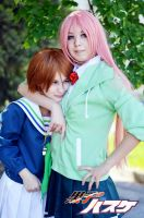 Momoi and Riko cosplay by Lavi-Deak