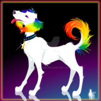 :Rainbow Puppy: by Asher-Bee