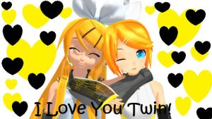 (MMD) Gift: I love my Twin by nena-linda-pink
