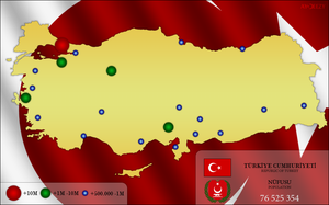 Biggest cities of Turkey by AYDeezy