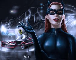Catwoman stealing the classic. by Omnipotent1984