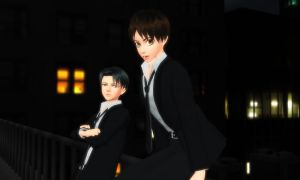 MMDxSNK/AOT- Levi and Eren- Working Overtime by 13Kitty95