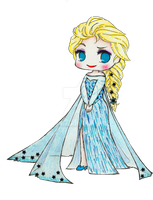 Chibi Elsa by hey-its-Japz