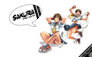 SF: Sakura Kasugano by ilovedrigo4ever