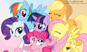 Mane 6 by Cool-Rainbow-Dash
