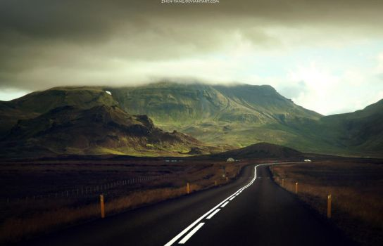 On the road by Zhen-Yang