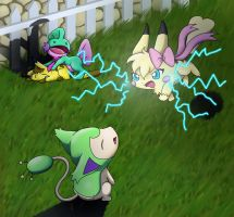 Pokesonas battle by BakaMichi