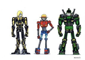 Sanji, Luffy and Zoro, Autobots by heivais