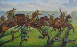 Polish uhlans in action (September 1939 year) by matej16