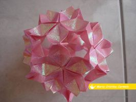 Sakura Kusudama by MoonchildLuiza