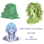 SKETCH COMMISSIONS! by kateheichou