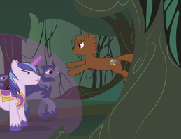 Burning Everfree part 2: Attack of the werecolt by NightTactician
