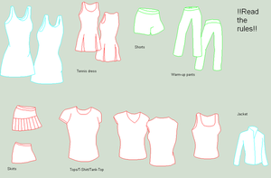 .:Girls Tennis Clothing Base:. by SwordOfTheFlame12