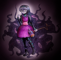 Monster-Making Magical Girl by StitchedUpZombie