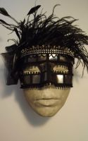 Eroticl leather mask by Campbell-Chapelier