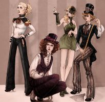 Top-hats, Curls and Pinstripes by concentriccookies