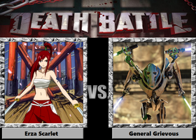 DEATH BATTLE: Erza vs. Grievous by KaijuATTACK877