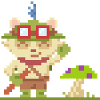Teemo Pixel Art - League of Legends by Deviant-Mell
