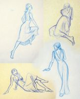 10 Minute Figure Drawings by Diana-Huang