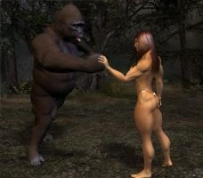 The Gorilla Throws a Punch by mit19237