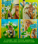 4 Icons Set Model Pyper America by shad-designs