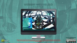 [2013 Theme ] Hatsune Miku V2.0.13 for Windows 7 by HKK98
