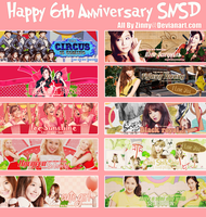 Happy 6th Anniversary SNSD-All By Zinny by zinnyshs