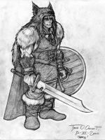 Thorg in armor by kossork