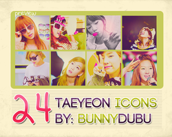 Taeyeon 24 Icon Set by bunnydubu