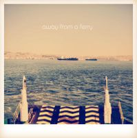 away from a ferry by geluu