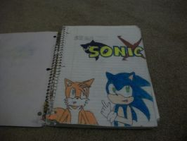 notebook pics 1: Sonic and Tails by BladerGirl101