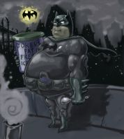 fat bat man by Jmoneydadoobiest