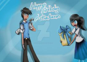 Happy Birthday,ActiveAaron by FelineOC-Alice