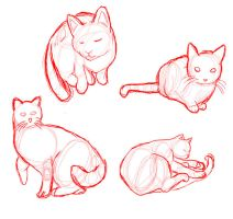 Cat feline pose reference by valurauta