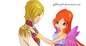 The Winx Club Bloom and Sky png by Gallifrey93