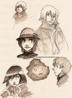 Howl's Moving Castle doodles by dontachos