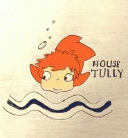 Ponyo - Game of Thrones - House Tully by Chazambre