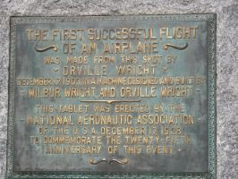 Wright Brothers Flight Plaque by The1980sKunoichi