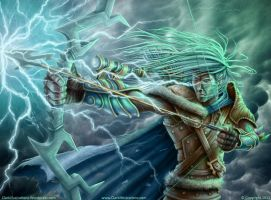 Epic Awesome DnD Elven Archer by Stoskri