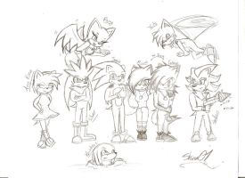 .:sonic and buds:. sketch by Shinx07
