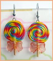 Lollipop Earrings by cherryboop