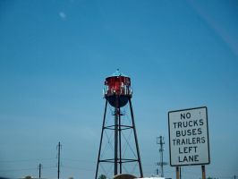 Water tower becomes cellular tower by sakaphotogrfx