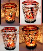 Salsa Dancers Candle Holder by Bonniemarie