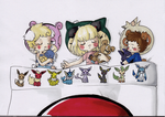 Mini Pokemon Trainers by Bon-J