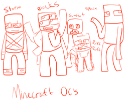 Minecraft OC's by Waves-Fins