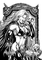 Lady Death Nanquim by leandro-sf