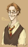 yearbook: albus dumbledore by flominowa