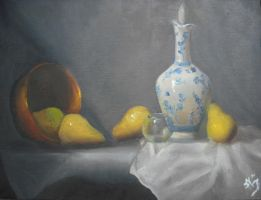 Pears and a Vase by DaniBones